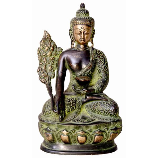 Antique Metal Budha Statue (Green)