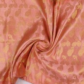 Baby Pink Golden Music Instrument Brocade Silk Fabric-9345