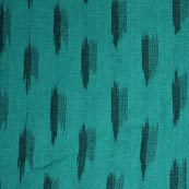 Beautiful Sea Green and Black Ikat Fabric
