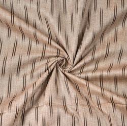 Beige Black Ikat Cotton Fabric-11103