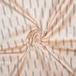 Beige Black Ikat Cotton Fabric-11171
