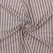 Beige Black Striped Handloom Khadi Cotton Fabric-40770