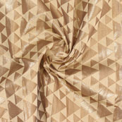 Beige Golden Brocade Silk Fabric-8992