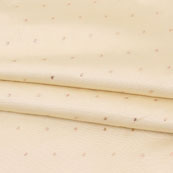 Beige Golden Polka Taffeta Silk Fabric-9091