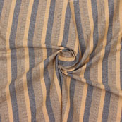 Beige Gray Striped Handloom Khadi Cotton Fabric-40771