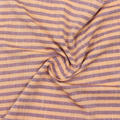 Beige Maroon Striped Handloom Khadi Cotton Fabric-40756