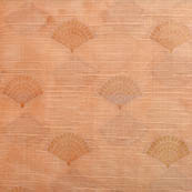 Beige flower shape brocade silk fabric-5047