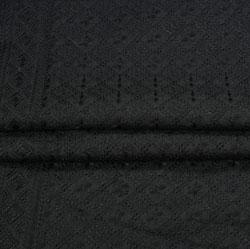 Black Flower Lucknowi Chikan Fabric-95044