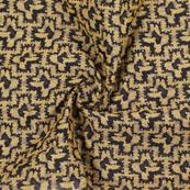 Black Golden Jacquard Cotton Fabric-9015