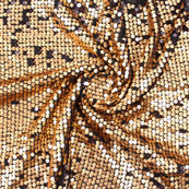 Black Golden Shiny Sequin Net Fabric-60943