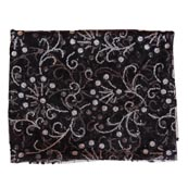 Black Golden Star Embroidery Net Fabric-60998