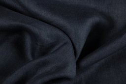 Black Plain Linen Fabric-90005
