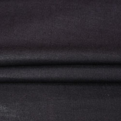 Black Plain Linen Fabric-90147