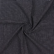 Black White Check Handloom Khadi Cotton Fabric-40759