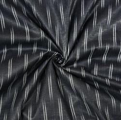 Black White Ikat Cotton Fabric-11092