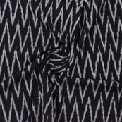 Black White Ikat Cotton Fabric-12333