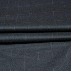 Black White Checks Wool Fabric-90231