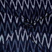 Black-White and Gray Zig-Zag Design Ikat Fabric-5690