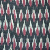 Black White and Red Ikat Fabric
