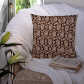 Black and Cream Cotton Cushion Cover-35039