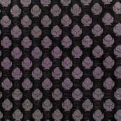Black and Gold Floral Brocade Silk Fabric by the yard
