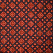 Black and Red Ajrakh Hand Pattern Cotton Fabric by the Yard