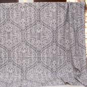 Black and White Handmade Flower Pattern Kantha Quilt-4371