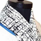 Black and White Traditional Design Scarf for Girls