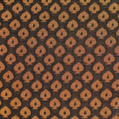 Black and golden small flower brocade fabric-4654