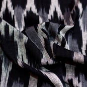 Black-white and Grey ikat fabric-5090