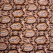 Blue-Beige and Yellow Unique Pattern Kalamkari-Screen Fabric-5493