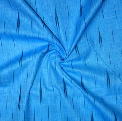 Blue Black Ikat Cotton Fabric-11138