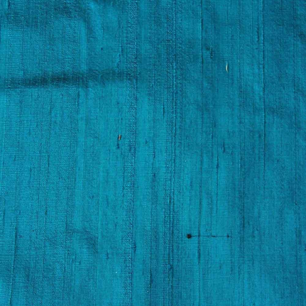 Blue Dupion Pure Raw Silk 60-70 Grams Fabric