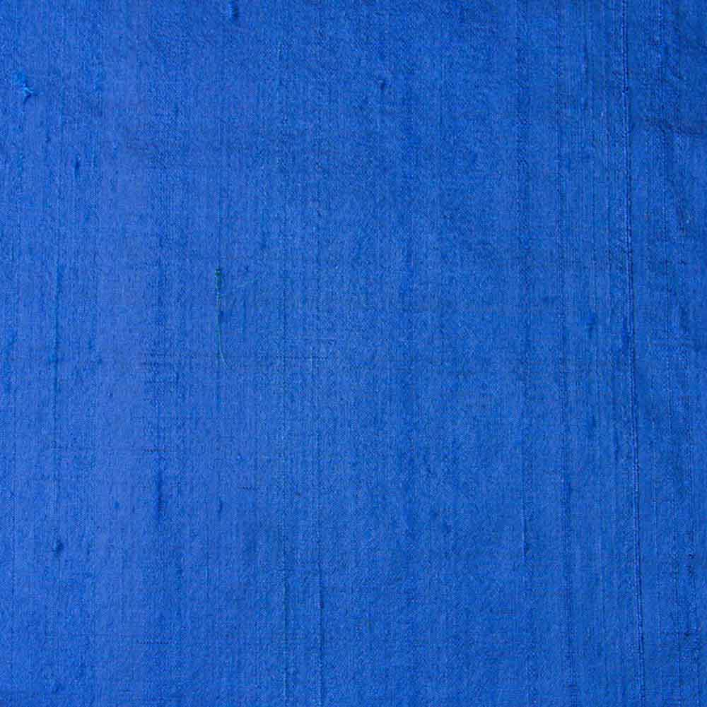 Blue Dupion Pure Raw Silk Fabric