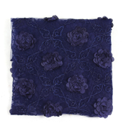 Blue Flower Net Embroidery Fabric-60874