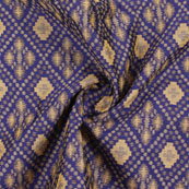 Blue Golden Jacquard Cotton Fabric-9007