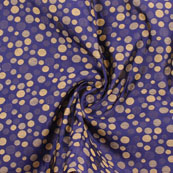 Blue Golden Jacquard Cotton Fabric-9018