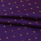 Blue Golden Polka Jacquard Brocade Silk Fabric-9171