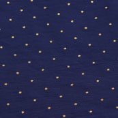 Blue Golden Polka Taffeta Silk Fabric-9093