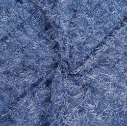 Blue Gray Embroidery Silk Sequin Fabric-18697