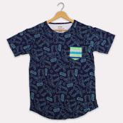 Blue Green Cotton Starwars T-shirt-33378