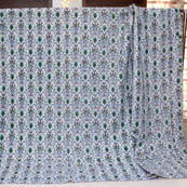 Blue-Green and Cream Paisley Pattern Kantha Quilts 4364