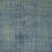 Blue Khadi Block Print Cotton Fabric-14799