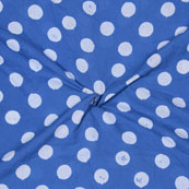 Blue White Block Print Cotton Fabric-14676