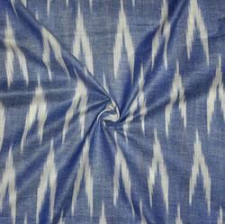 Blue White Ikat Cotton Fabric-11140