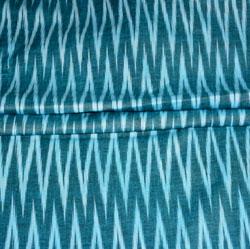 Blue White Ikat Cotton Fabric-11165