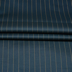 Blue Yellow Stripe Wool Fabric-90182