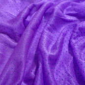 Blue and Violet Pearls Design Lycra Fabric-6542
