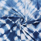 Blue and White Cotton Shibori Tie Dye Fabric-14407