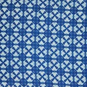 Blue and White Floral Pattern Block Print Cotton Fabric by the yard